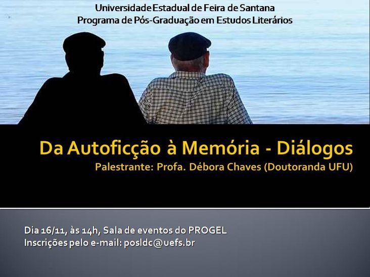 Da Autoficção à Memória - Diálogos